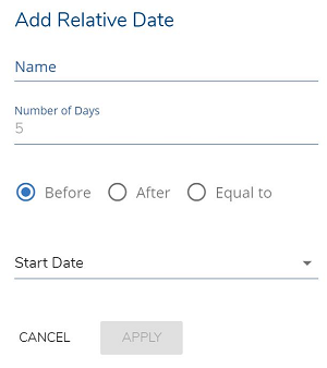 An image of a LionDesk feature that allows users to add relative dates for transactions.